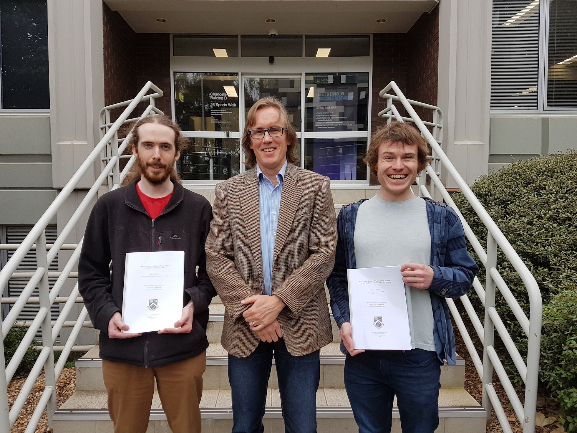 Tim Wilson and Kevin Hendrey submit their PhD theses